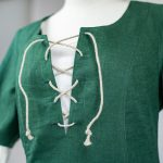 Kurzärmeliges Leinenkleid Modell Ida