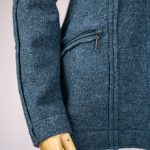 Modische Kapuzenjacke aus Wollwalk Modell Nele