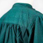 Stehkragenhemd aus meliert gewebter Baumwolle Modell Indigo