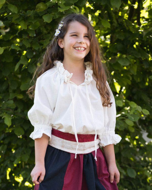 Kurzärmelige Bluse für Kinder Modell Lotte