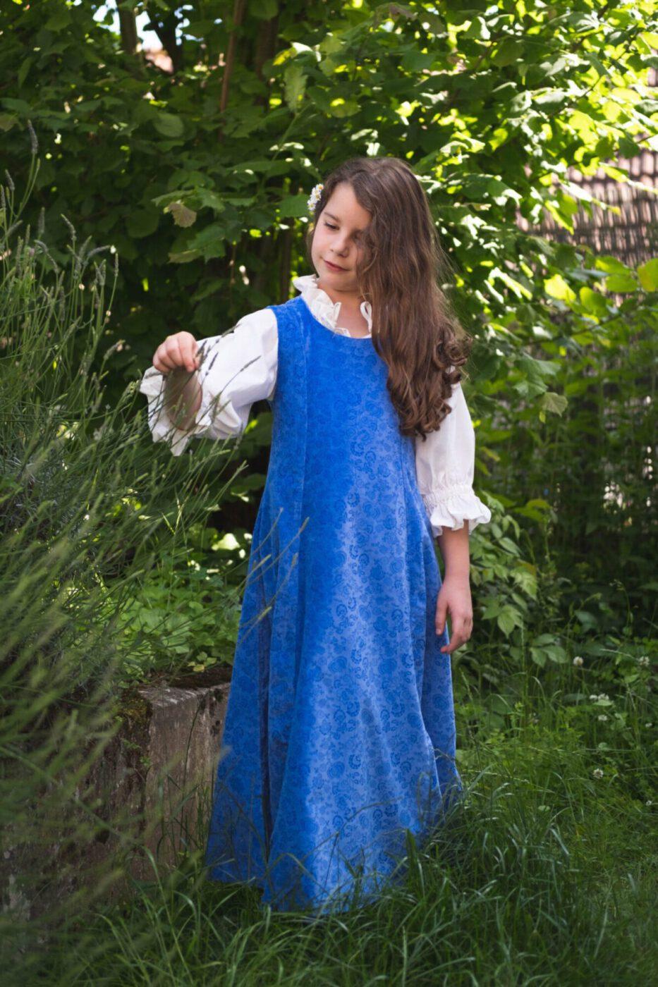 Ärmelloses Samtkleid für Kinder Modell Elsa