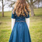 Kurzärmeliges Leinenkleid Modell Emma