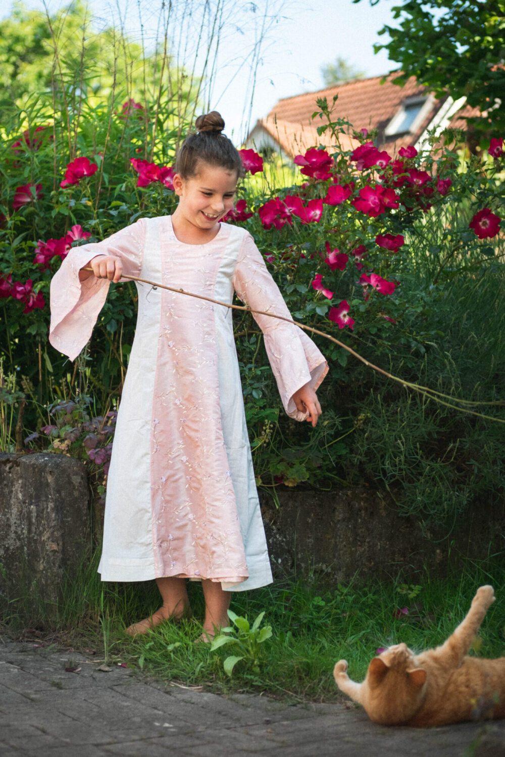 Mittelalterkleid aus Baumwolle für Kinder Modell Frida