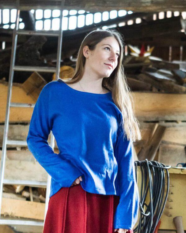 Rundhalspullover aus Schurwolle Modell Sophia