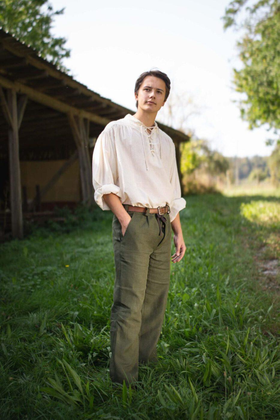 Sommerliche Leinenhose Modell Florian