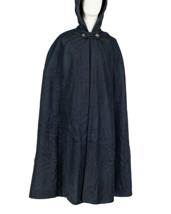 Umhang / Cape Modell Smilla aus Baumwollfilz mit langer Kapuze