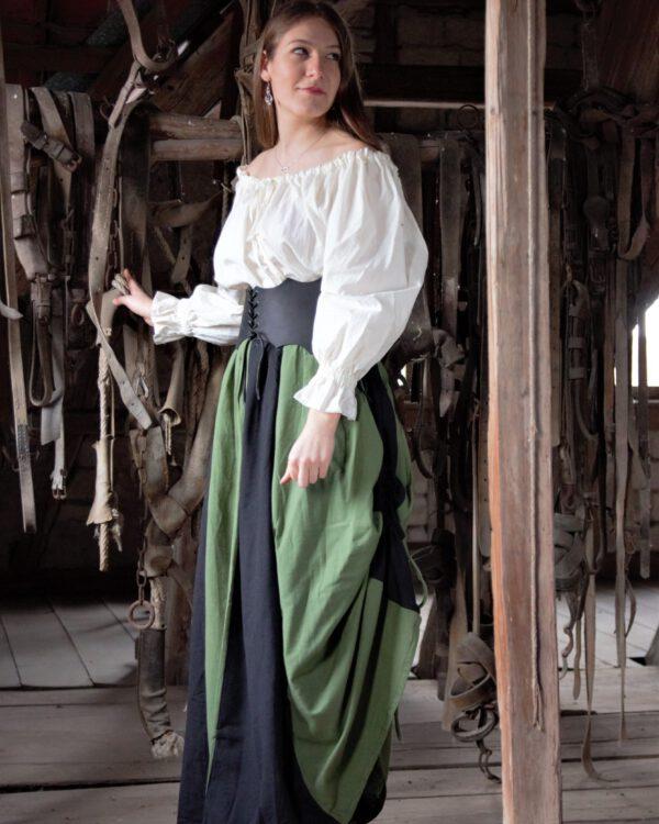 Baumwollrock zum Raffen Modell Hannah