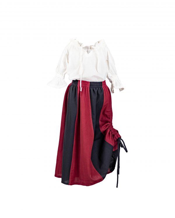 Zweifarbiger Baumwollrock für Kinder Modell Nina