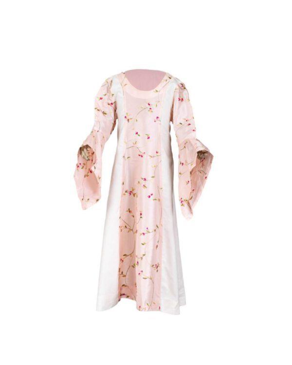 Mittelalterkleid aus Taft und Baumwolle für Kinder Modell Marie