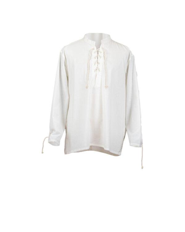 Schlichtes Baumwollhemd mit geradem Ärmel Modell Willy