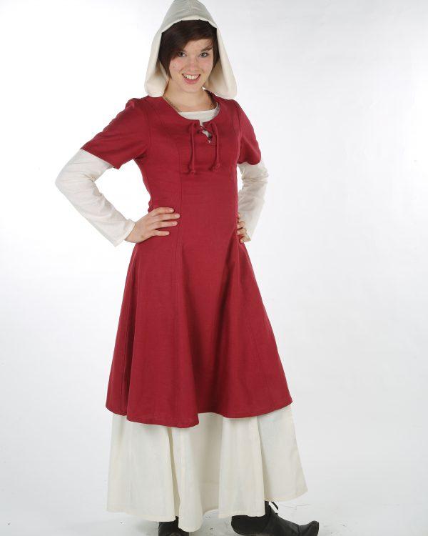 Kurzärmeliges Leinenkleid Modell Annika