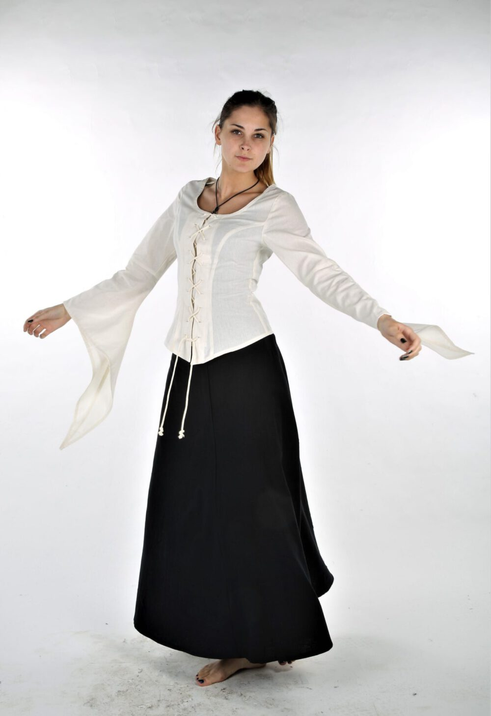 Taillierte Bluse Modell Carina
