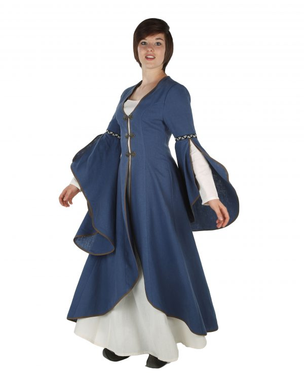 Mantelkleid aus Leinen Modell Amélie