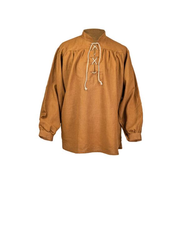 Stehkragenhemd aus Leinen Modell Matze