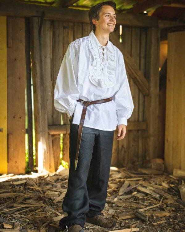 Spitzkragenhemd mit Rüschen Modell Jack
