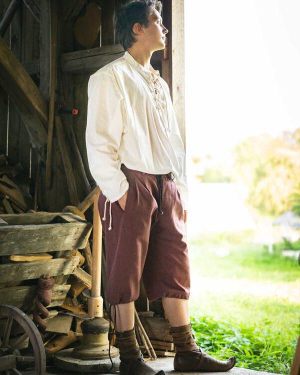 Kurze Baumwollbundhose Modell Oskar