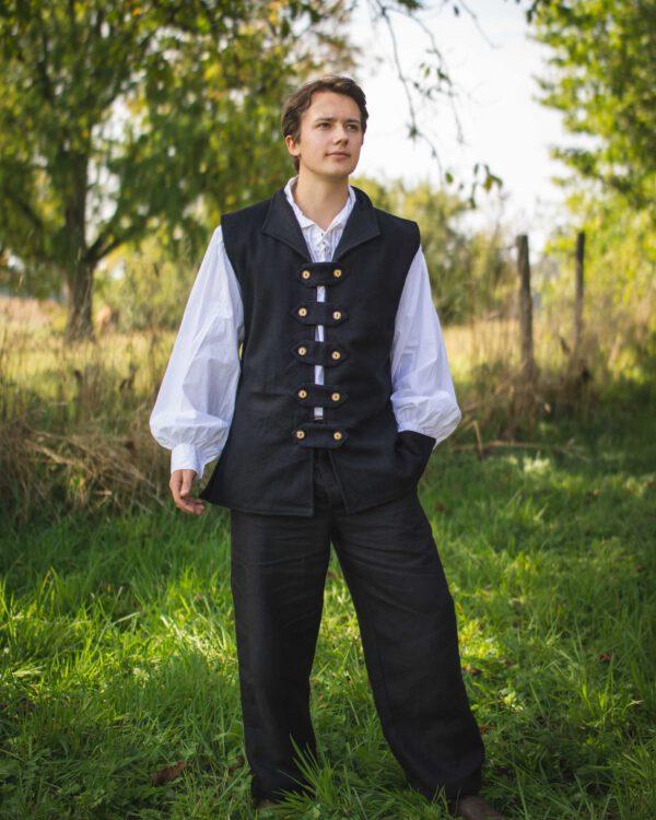 Weste aus Baumwollfilz Modell Anton