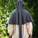 Gugel mit langer Kapuze aus Baumwollfilz Modell Polar