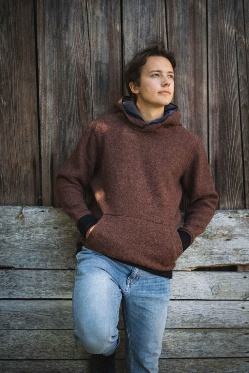 Hoodie aus Schurwolle Modell Luca